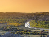 Little Missouri River and River Bend Overlook, Theodore Roosevelt National Park, North Dakota, USA Photographic Print by Michele Falzone