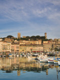 Vieux Port and Old Quarter of Le Suquet, Cannes, Cote D'Azur, France Photographic Print by Michele Falzone