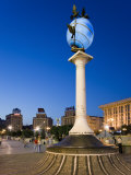 Illuminated World Globe in Maidan Nezalezhnosti, Kiev, Ukraine Photographic Print by Gavin Hellier