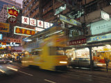 Tram, Causeway Bay, Hong Kong, China Photographic Print by Neil Farrin
