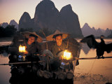 Cormerant Fishermen, Yangshuo, Guangxi, China Photographic Print by Peter Adams