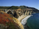 Bixby Bridge, Big Sur, California, USA Fotografie-Druck von Steve Vidler