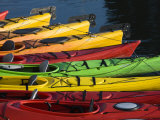 Ocean Kayaks, Rockport Harbour, Rockport, Cape Ann, Massachusetts, USA Photographic Print by Walter Bibikow