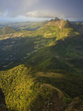 East Mauritius and Pieter Both Mountain, View from Le Pouce Peak, Mauritius, Indian Ocean Photographic Print by Michele Falzone