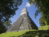 Temple of the Great Jaguar, Temple 1, Gran Plaza, Tikal, El Peten, Guatemala Photographic Print by Jane Sweeney