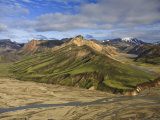 Mountain Slopes, Landmannalaugar, Fjallabak Nature Reserve, Central Iceland Photographic Print by Michele Falzone