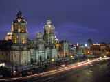 The Zocalo, Mexico City, Mexico Photographic Print by Walter Bibikow