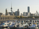 Kuwait City and Sharq Souk Marina, Kuwait Photographic Print by Walter Bibikow