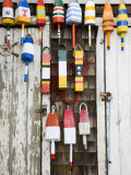 Lobster Buoys, Rockport Harbour, Rockport, Cape Ann, Massachusetts, USA Photographic Print by Walter Bibikow