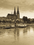 St. Peter Cathedral and Town, Dom, Regensburg, Bavaria, Germany Photographic Print by Walter Bibikow