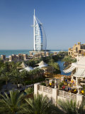 Mina a Salam and Burj Al Arab Hotels, Dubai, United Arab Emirates Photographic Print by Peter Adams