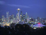 Seattle Skyline Fr. Queen Anne Hill, Washington, USA Photographic Print by Walter Bibikow