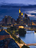 Skyline, Frankfurt-Am-Main, Hessen, Germany Photographic Print by Walter Bibikow