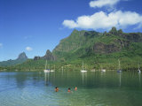 Cooks Bay, Moorea Island, Tahiti, French Polynesia Photographic Print by Steve Vidler