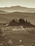 Ferme, Val d'Orcia, Toscane, Italie Photographie par Doug Pearson