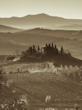 Farmhouse, Val D' Orcia, Tuscany, Italy Photographic Print by Doug Pearson