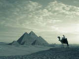 Pyramids, Giza, Egypt Photographic Print by Steve Vidler