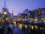Prinsengracht, Amsterdam, Holland Lmina fotogrfica por Jon Arnold