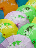 Souvenir Paper Umbrellas, Mingshan, Fengdu Ghost City, Fengdu, Yangtze River, Chongqing, China Photographic Print by Walter Bibikow