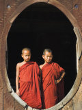 Monks, Shwe Yaunghwe Kyaung Monastery, Inle Lake, Shan State, Myanmar Photographic Print by Jane Sweeney