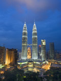 View over Kuala Lumpur City Centre and Petronas Towers, Kuala Lumpur, Malaysia Photographic Print by Gavin Hellier