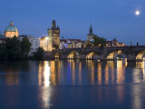 Old Town and Charles Bridge at Dusk, Prague, Czech Republic Photographic Print by Doug Pearson