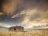 Lone Building, Cardston, Alberta, Canada Photographic Print by Walter Bibikow