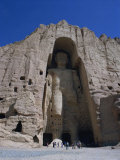 Worlds Largest Standing Buddha, Bamiyan, Afghanistan Photographic Print by Steve Vidler