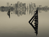 East Boston, Financial District from Logan Airport, Boston, Massachusetts, USA Photographic Print by Walter Bibikow