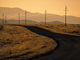 Road in Desert, California, USA Photographic Print by Walter Bibikow