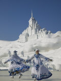 Ice Skating Show, Ice and Snow Festival, Harbin, Heilongjiang, China Photographic Print by Walter Bibikow