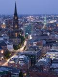 St. Nikolai Church and Town, Hamburg, State of Hamburg, Germany Photographic Print by Walter Bibikow