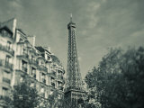 Eiffel Tower and Avenue De Suffren Buildings, Paris, France Photographic Print by Walter Bibikow