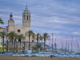 Sitges, Sant Bartomeu I Santa Tecla Church, Catalonia, Spain Photographic Print by Alan Copson