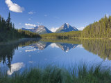Whirlpool Peak, Mt. Fryatt and Leech Lake, Jasper National Park, Alberta, Canada Photographic Print by Michele Falzone
