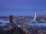 Rotterdam and Erasmus Bridge from Euromast Tower, Rotterdam, Holland Photographic Print by Michele Falzone