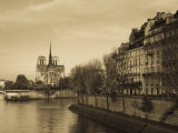 Notre Dame Cathedral and Ile St-Louis Buildings, Paris, France Photographic Print by Walter Bibikow