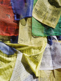 Prayer Flags, Mahakala Temple, Observatory Hill, Darjeeling, West Bengal, India Photographic Print by Jane Sweeney