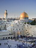 Western Wall and Dome of the Rock Mosque, Jerusalem, Israel Impressão fotográfica por Michele Falzone