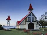 Notre Dame Auxiliatrice Church, Cape Malheureux, Mauritius, Indian Ocean Photographic Print by Michele Falzone