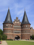 Town Gate Holstentor, Lubeck, Schleswig-Holstein, Germany, Photographic Print