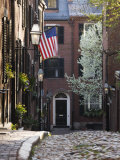 Spring, Acorn Street, Beacon Hill, Boston, Massachusetts, USA Photographic Print by Walter Bibikow