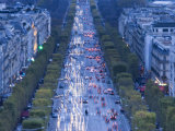 Champs Elysees View from the Arc De Triomphe, Paris, France Photographic Print by Walter Bibikow