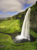 Seljalandfoss Waterfall, South Coast, Iceland Fotografie-Druck von Michele Falzone