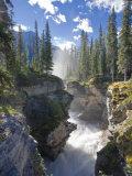 Michele Falzone - Athabasca Falls Waterfall, Jasper National Park, Alberta, Canada Fotografická reprodukce