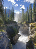 Athabasca Falls Waterfall, Jasper National Park, Alberta, Canada Photographic Print by Michele Falzone