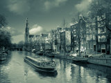 Prinsengracht and Westerkerk in the Background, Amsterdam, Holland Photographic Print by Michele Falzone