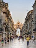 Rua Augusta, Baixa, Lisboa, Portugal Photographic Print by Michele Falzone