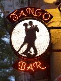 Enseigne d'un bar de tango, Buenos Aires, Argentine Photographie par Demetrio Carrasco