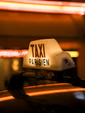 Taxi Sign, Paris, France Photographic Print by Neil Farrin